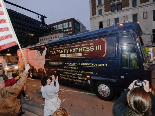 Tea Party Express bus