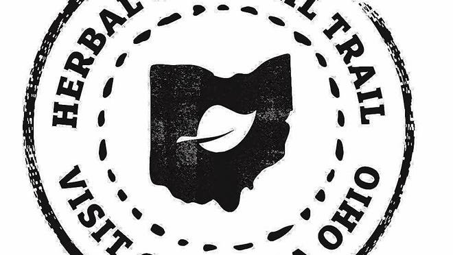 This logo promotes the Herbal Cocktail Trail in Gahanna, a program that highlights herbal beverages at local businesses.