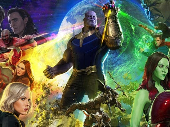 Promotional poster artwork for Avengers: Infinity War.