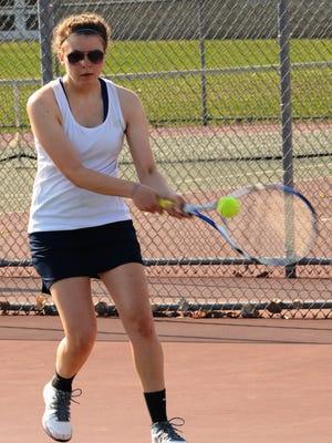 Stevenson's Danielle Marzec went 3-0 at No. 3 singles Saturday.