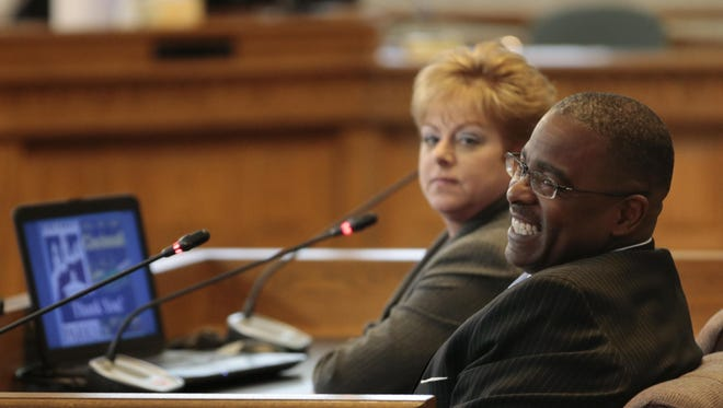 The Enquirer/Kareem Elgazzar Carden before council?s budget and finance committee in March. The Enquirer/Kareem Elgazzar Cincinnati Park Board Director Willie Carden during a presentation this week to City Council?s budget and finance committee. Cincinnati Park Board Director Willie Carden, right, smiles during a presentation to City Council's budget and finance committee on Monday, March 28.