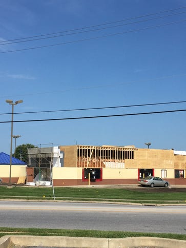The Burger King on White Street is getting a facelift,