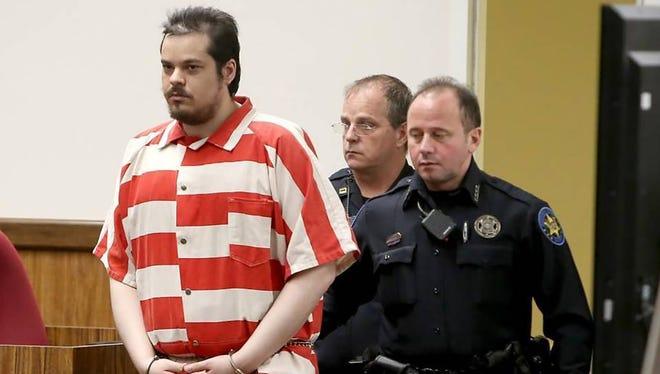 Alberto Garcia enters court Monday morning in Gulfport, Jan, 23, 2017. Garcia pleaded guilty to the 2014 capital murder of Ja'Naya Thompson.