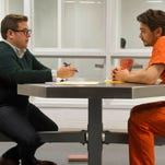 "(L-R) Jonah Hill as Mike Finkel and James Franco as Christian Longo in ""True Story."""