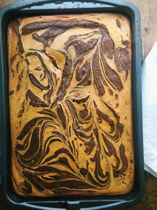 Food Deadline Pumpkin Cream Cheese Brownies