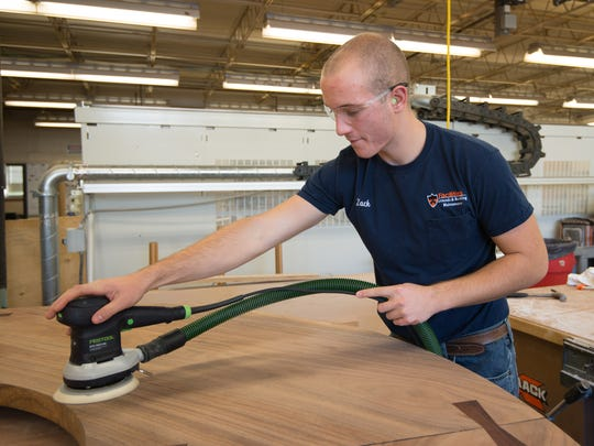 Zachary Scrape, who was the valedictorian of the Somerset County Vocational-Technical School Class of 2015, landed a highly coveted spot at Princeton University as part of a pilot program designed to attract talented young technical trade workers to Princeton's Facilities Operations Department as an apprentice in the carpentry shop.