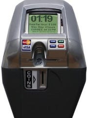 New parking meters, to be installed in the parking