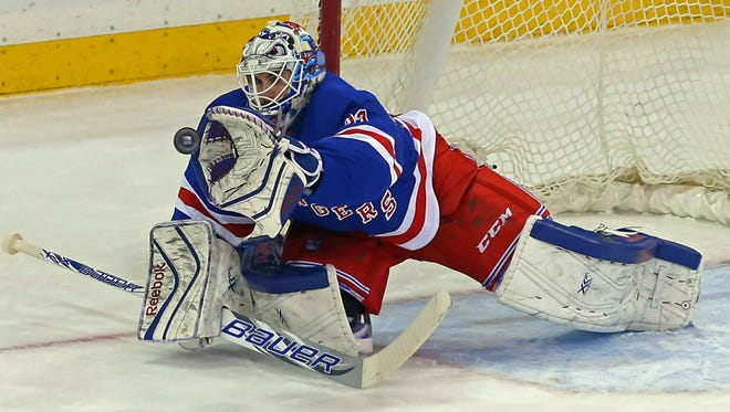 Cam Talbot  and the New York Rangers can clinch a playoff spot Thursday night.