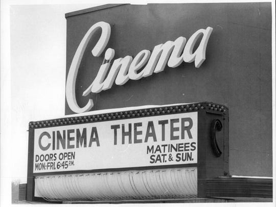 Cinema Theater sign.