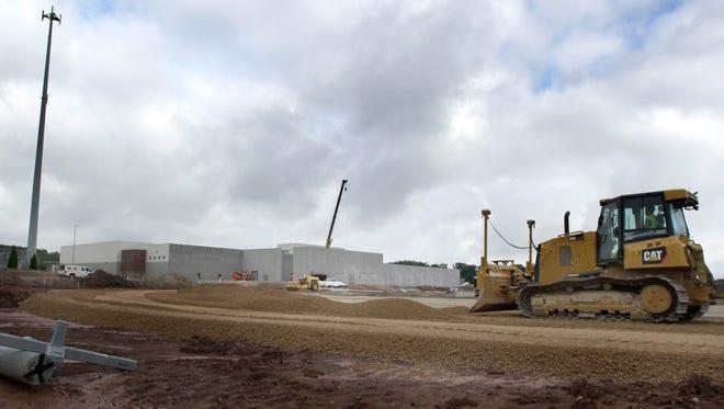 Construction continues on the new Kaukauna High School sports complex on Tuesday, September 10, 2015, in Kaukauna, Wis. Wm.Glasheen/Post-Crescent Media