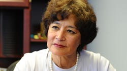 Public Auditor Doris Flores Brooks, in her office in Hagatna, during an interview with the Pacific Daily News on March 13.