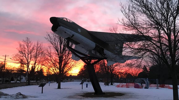 This A-7 Corsair is located in Wausau's Alexander Park, a few blocks from my home. Taken just before dawn.