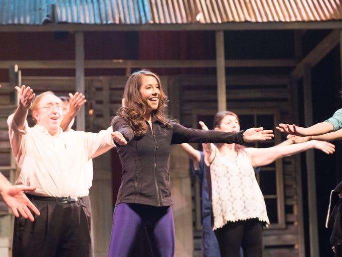 Dancer Natalie Freeman during rehearsal for 'Jambalaya