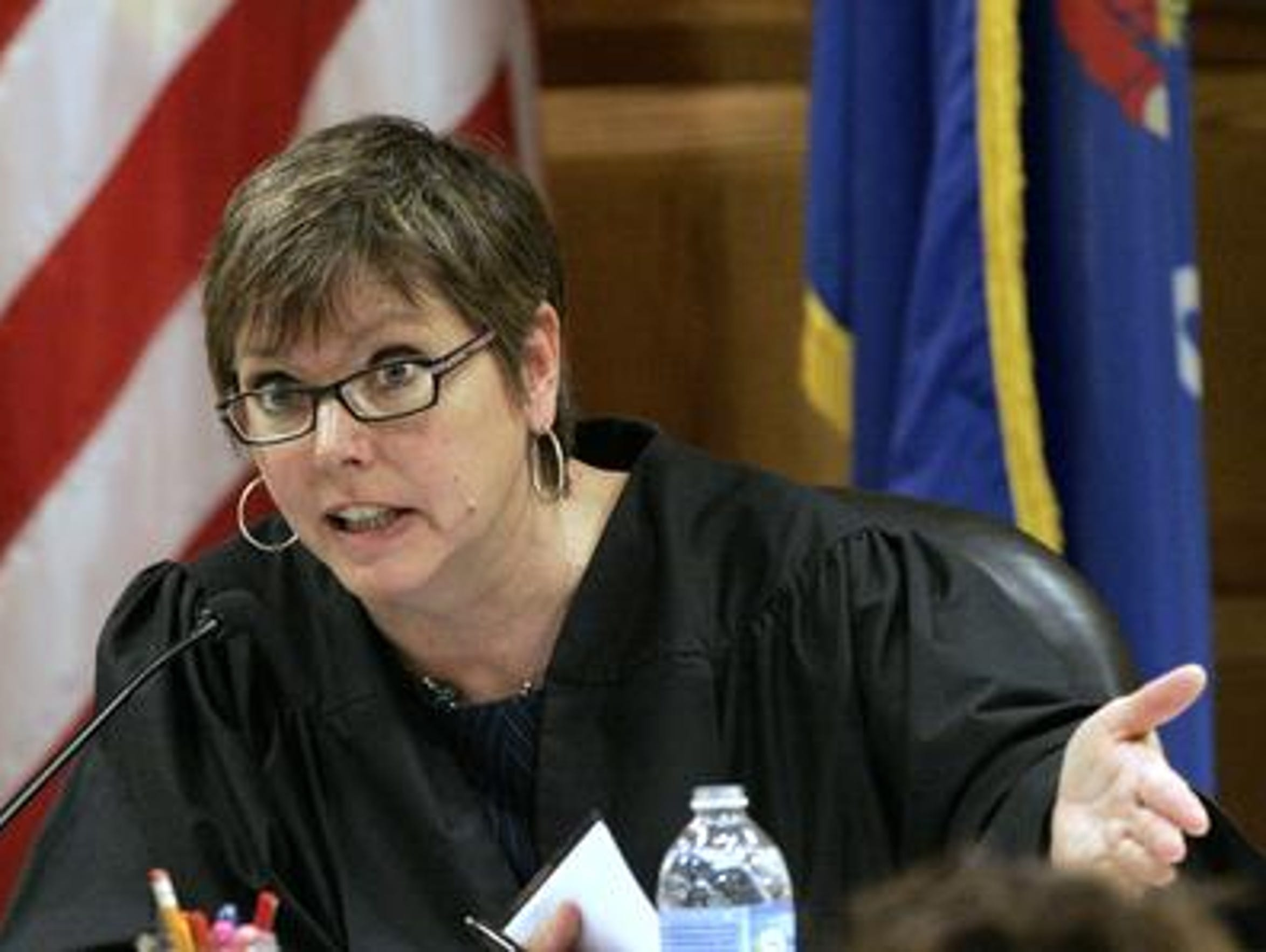 Outagamie County Judge Nancy Krueger sharply criticized