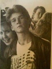 Greg Locke at 14 in a Vanilla Ice T-shirt. Growing