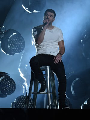 Sam Hunt performs during the 58th Grammy Awards at the Staples Center.