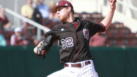 Mississippi State pitcher Vance Tatum propelled the Bulldog to a 6-2 win over Samford on Sunday.