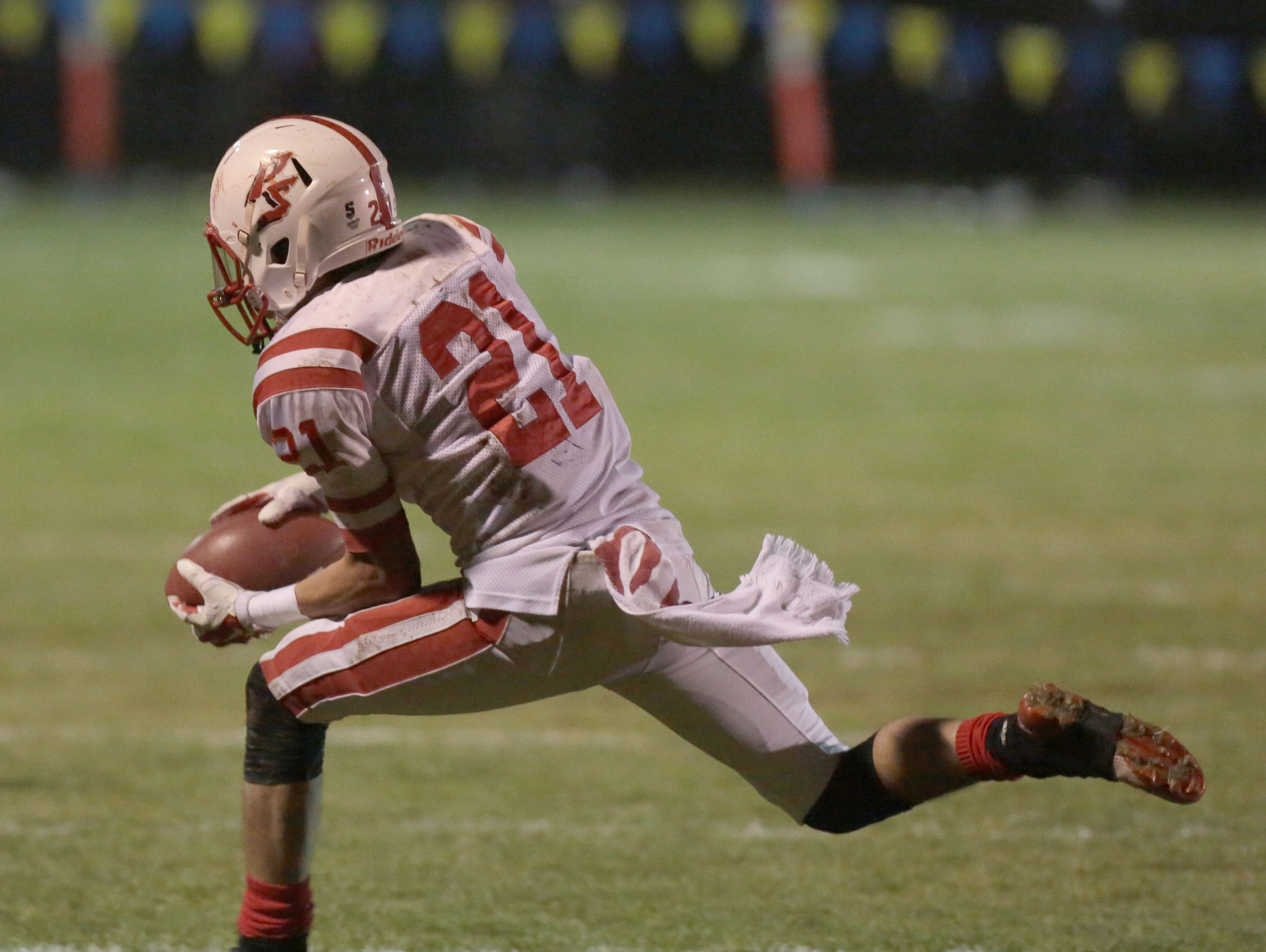 Palm Springs and Serrano football action during the CIF Eastern Division title game in Phelan on Friday, December 5, 2014.