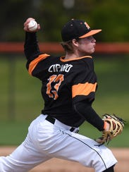 Northville's Connor Ziparo fires toward home plate