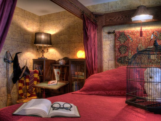 The J.K. Rowling room at the Sylvia Beach Hotel is