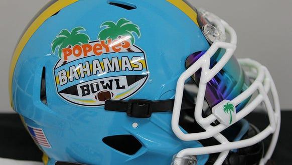 Popeyes Bahamas Bowl helmet.
