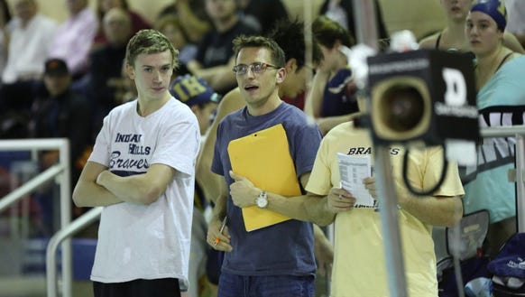 Indian Hills coach Bryan McDonnell found a nice replacement for Matt Smits (left) in freshman Andrew Gamper.