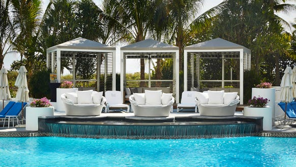 The pool at the Loews Miami Beach Hotel has gotten