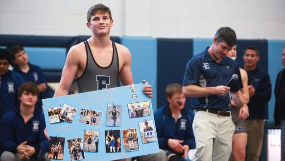 Enka's Phil Daub celebrates after his first match at