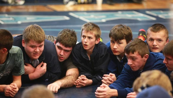 "Scenes from the ""Enka Duals'' wrestling tournament"