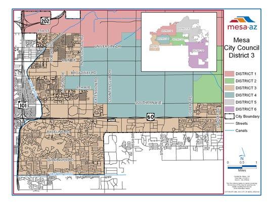 Mesa City Council District 3.