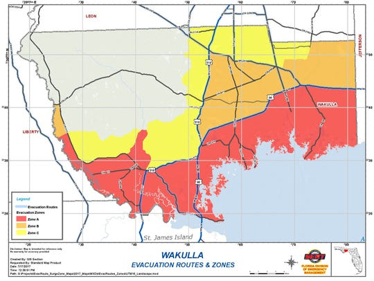 Wakulla County has issued evacuations for mobile home