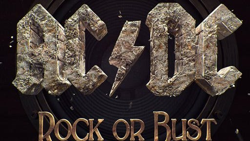"""FILE - This CD cover image released by Columbia Records shows """"Rock or Bust,"""" by AC/DC. The new album releases Tuesday, Dec. 2, 2014. (AP Photo/Columbia Records, File)"""