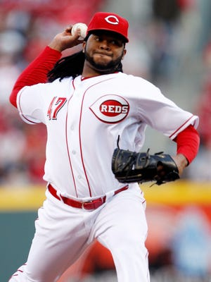 Johnny Cueto is a free agent at the end of the season.