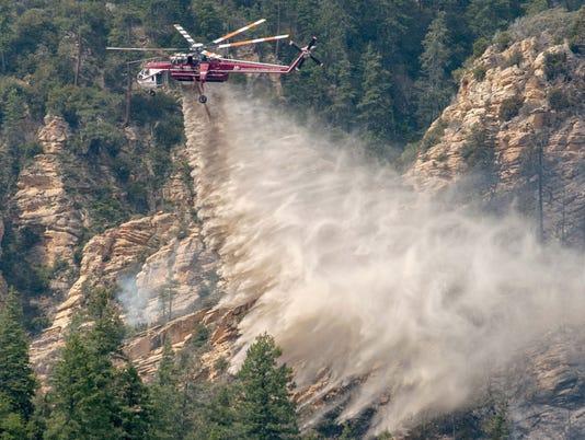 Fire in Oak Creek Canyon