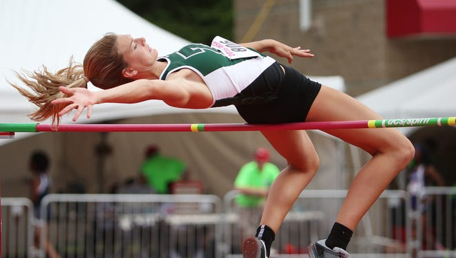 FILE – Zionsville's Katie Isenbarger won the high jump at the Hoosier State Relays in Bloomington.