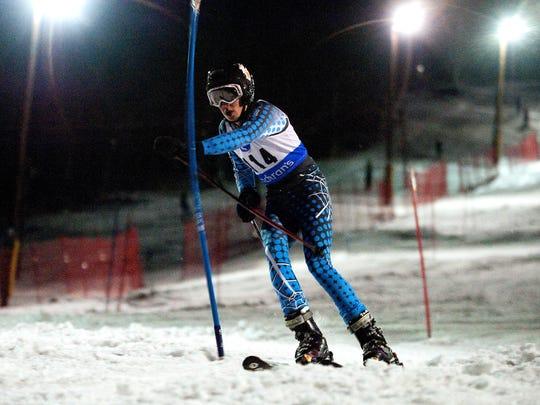 High School Slalom Apline Race - Cochran's Ski Area 02/17/12
