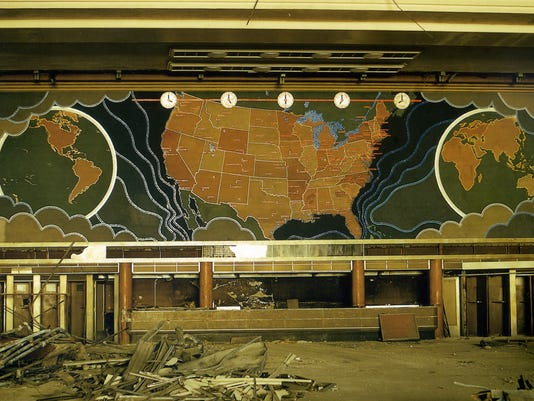 union terminal map mural