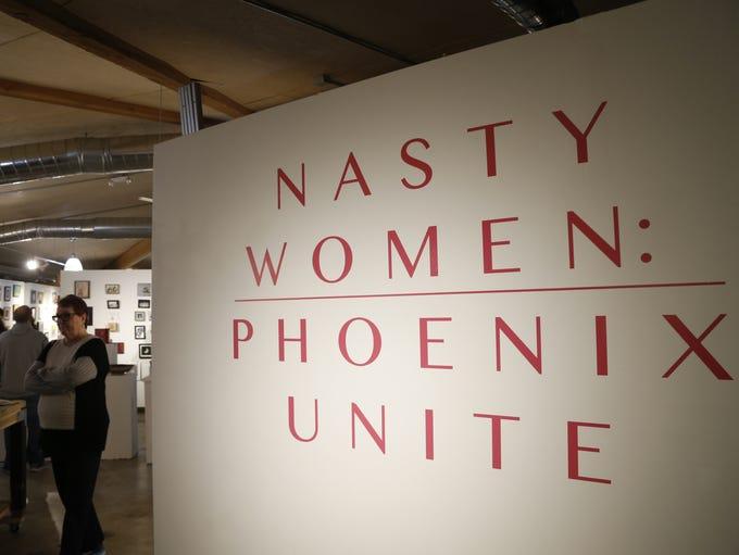 "People gather at ""Nasty Women: Phoenix Unite"" on Jan."