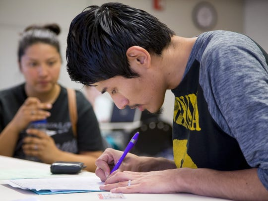 Gerson Gonzalez reapplies for his DACA card at First