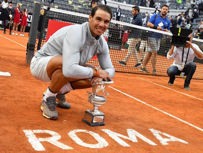 May - Italian Open: Rafael Nadal, his eighth time winning
