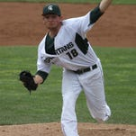 MSU pitcher Anthony Misiewicz delivers a pitch against Penn State on May 9 at McLane Stadium in East Lansing. The junior left-hander signed a contract with the Seattle Mariners after being taken in the 18th round of the MLB First-Year Player Draft on June 10 and will bypass his final season as a Spartan.