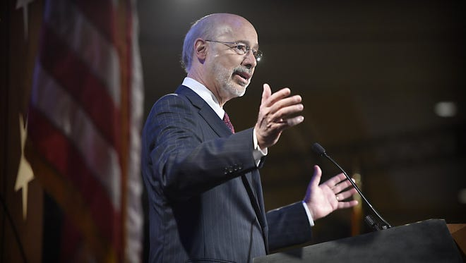 Governor Tom Wolf pictured at the Pennsylvania State Association of Township Supervisors 93rd Annual Conference & Trade Show on April 21, 2015.