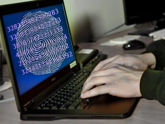 Identity theft photo illustration.