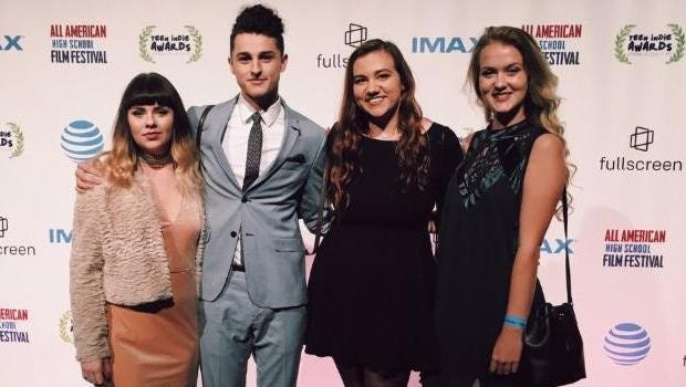 "Glendale students Brett Baxley, Eleyah Slavens, Kaitlyn West and Julia Weber, produced the film ""The Fourth"" for the All American High School Film Festival in New York City."