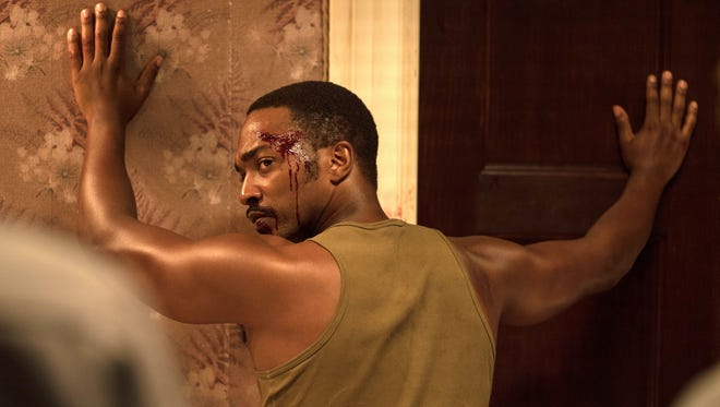 """Anthony Mackie in a scene from the movie """"Detroit,"""" a film about the 1967 Detroit riots directed by Kathryn Bigelow, which hits theaters Aug. 4, 2017."""