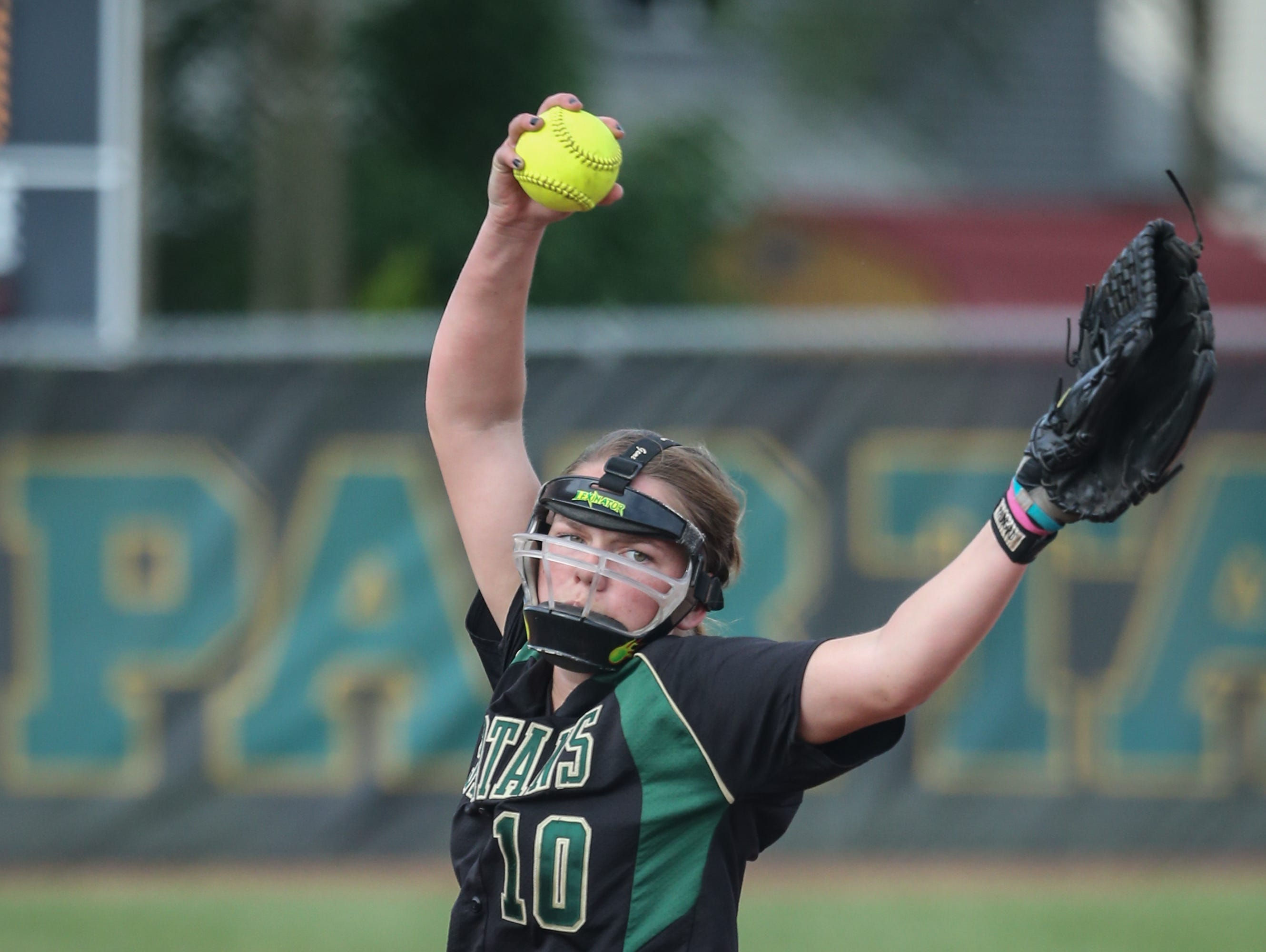 Oshkosh North pitcher Lexi Reetz (10) struck out 14 and allowed just two hits in leading the Spartans to a 7-1 win over Slinger in a WIAA Division 1 regional final on Friday.