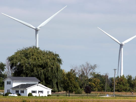 Wind turbines in Tuscola County and are all over farm country southeast of Bay City.