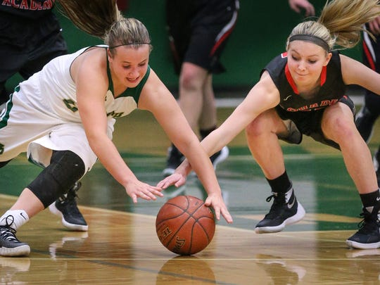 North's Kaylee Anthes is second on the team in scoring at 7.8 points per game.
