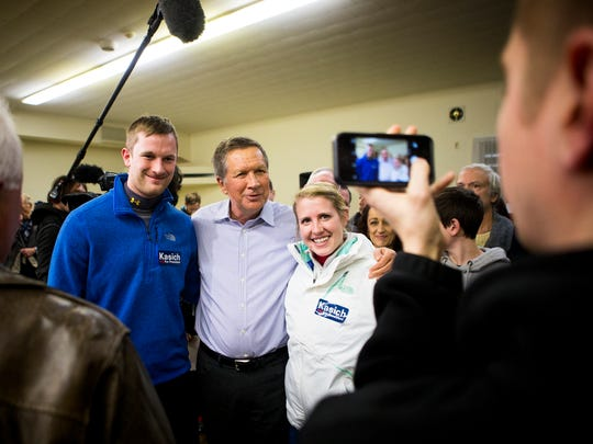Ohio Governor John Kasich speaks at a town hall at the Hopkinson American Legion E. Roger Montgomery Post 81 in Contoocook, New Hampshire Tuesday, January 19, 2016.