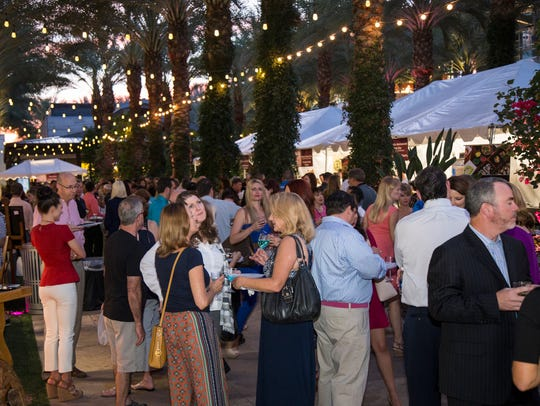 The scene at the AZ Wine & Dine in Scottsdale.